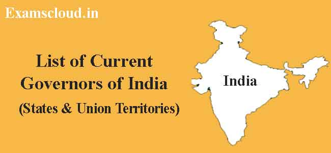 List of Governors in India 2020