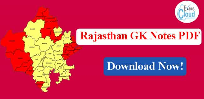 Rajasthan General Knowledge Notes PDF