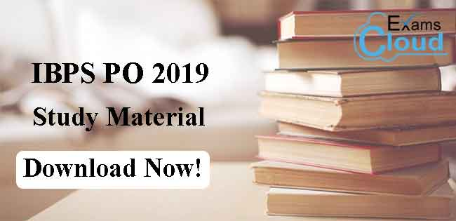 IBPS PO Study Material