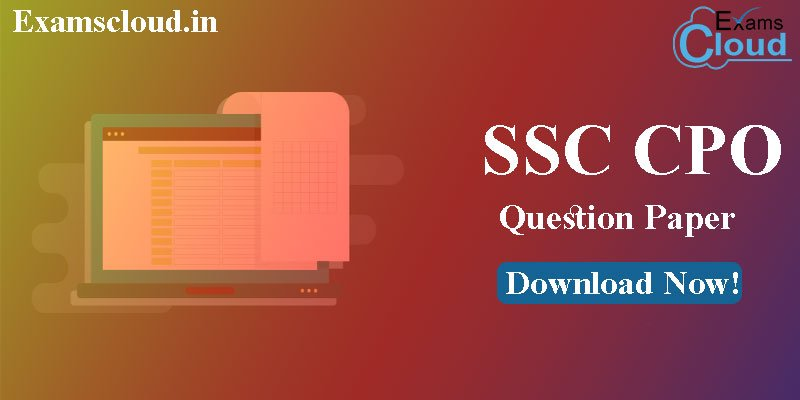 SSC CPO Question Paper 2019