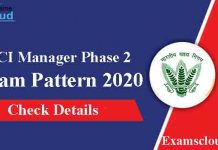 FCI Manager Phase 2 Exam Pattern 2020