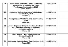 SSC Result Schedule 2020