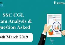 SSC CGL 4th March Exam Analysis & Asked Questions
