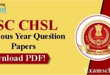 SSC CHSL Previous Year Papers with Answer