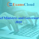 List of Chief Ministers and Governors of India 2020