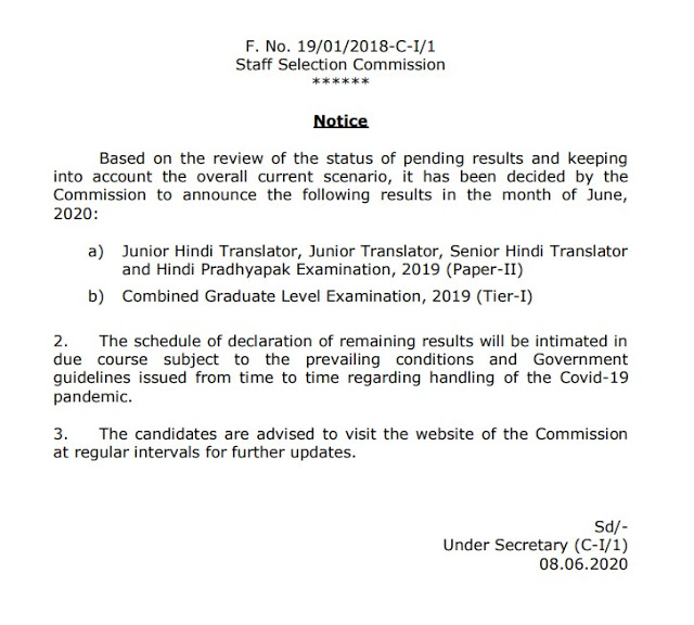 SSC CGL Result 2020