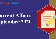 Current Affairs September 2020