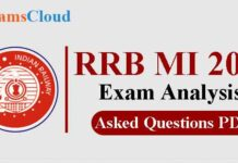 RRB MI Exam Analysis & Asked Questions PDF