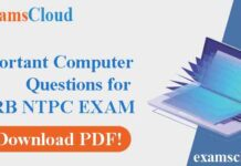 Important Computer Questions for Upcoming RRB NTPC Exam