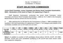 SSC JHT Result 2021