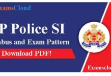 UP Police SI Syllabus and Exam Pattern
