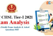 SSC CHSL Exam Analysis 2021