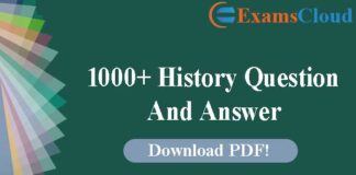 1000+ History Question And Answer PDF