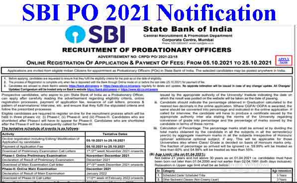SBI PO Recruitment 2021 – Check Exam Date for 2056 Posts